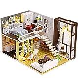 CaoQuanBaiHuoDian Kinder Bausteine  DIY Wohnung Modell Puppenhaus Möbel Zubehör Miniatur Construction Bastelset kreatives Geschenk Lernspielzeug (Farbe : Multi-Colored, Size : 27 * 19.6 * 16.5cm)