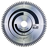 Bosch Professional Kreissägeblatt Multi Material (216 x 30 x 2,5 mm, 80 Zähne, Zubehör Kreissäge)