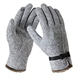 Bequemer Laden Winter Kaschmir Handschuh für Damen Warme Touchscreen Strick Handschuhe mit Bogen Elegant Weich Fleece Winterhandschuhe für Frauen O