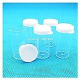 HXF Hxfang®. 100pcs / Lot 24x45mm Labor Flacher unterer Kunststoff-Teströhrchen Probenschale-Packungsrohr mit weißer Abdeckung