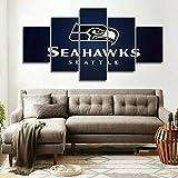 lcyfg Wandbilder Wohnzimmer- Rahmen Seattle 5 Seahawks Sports HD Gemälde Wandtattoo Home Decoration