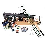 Maximumcatch Maxcatch Premier Fliegenfischen Rute und Rolle Combo komplete 9' Fliegenfischen Outfit Ausrüstung (5 wt -9' Half-Handgriff Rute, 5/6 Rolle)
