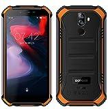 DOOGEE (3GB+32GB) Robustes 4G Android 9,0 Handy ohne Vertrag,5,5' HD (Gorilla Glass 4) IP68 Outdoor wasserdichtes Telephone DUAL SIM Militär Smartphone, 4650mAh Akku, Quadcore NFC - Orange