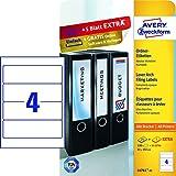 Avery Zweckform L4761-25 Ordnerrücken Etiketten (A4, 120 Rückenschilder, breit/kurz, selbstklebend, blickdicht, 61 x 192 mm) 30 Blatt weiß (3, breit/kurz)