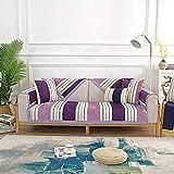 zvcv Sofabezug 3 Sitzer, Chenille Couchbezug Jacquard Weicher Möbelschutz für Sofa-Marineblau-110x240cm/43x95inch