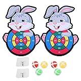 Asixxsix Dartscheibe, Dartplatte, Kinderspielzeug, kleine Dartplattenspiele, tragbar, Innen- und Außenbereich(Rabbit Sticky Target)