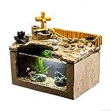 NYKK Aquarienbecken Persönlichkeit Kreativität Fisch Zylinder Aquarium Wohnzimmer Büro Desktop Dekoration Aquarium Fischteich Aquarium Fischtank/