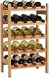 HOMECHO Bambus Weinregal für 20 Flaschen mit Ablage Flaschenregal Weinschrank Weinhalter Weinständer Flaschenständer Weinflaschenhalter 43.5 * 24.6 * 73 cm (1 Stück)