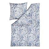 ESTELLA Bettwäsche Yaren | Taube | 135x200 + 80x80 cm | bügelfreie Interlock-Jersey-Qualität | pflegeleicht und trocknerfest | ideale Vier-Jahreszeiten-Bettwäsche | 100% Baumwolle
