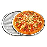 paomo Pizzaform, antihaftbeschichtet, 10 Zoll, für Pizza, Lebensmittel, Silb