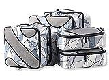 Bagail Packtaschen in Würfelform, Packing Cubes, 3 verschiedene Größen, Reisegepäck-Organizer, 6 Stück