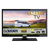 Gelhard GTV2222 Smart TV 22 Zoll DVB/S/S2/T2/C, USB, 12/230 Volt mit WLAN
