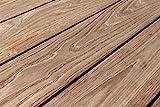 Muster Thermoholz Terrassendielen, Esche, 25 x 130 mm, 2-seitig glatt, mit seitlicher Nut (17,40 € / lfm)