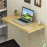Massivholz Wand Klapp Esstisch Drop Leaf Computer Study Desk Wandhalterung Rahmen Laptop Ständer für Arbeitszimmer Badezimmer oder Balkon, 70 * 50 cm / 28 * 20in-2