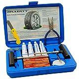 Haskyy 57 TLG PR Flickzeug Profi Reifenreparatur Set PKW Pannenset Vulkanisier Streifen PKW MOTORRAD QUAD5