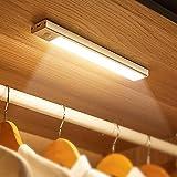 LED Unterbauleuchte mit Sensor, Touch Dimmbar Schrankbeleuchtung USB Wiederaufladbar Type-C, Kleiderschrank Beleuchtung, LED Sensor Licht für Küche, Bett, 1100Amh Akku Aufladbar, Warmweiß, 250