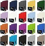NatureMark 2er Pack Jersey Spannbettlaken, Spannbetttuch 100% Baumwolle in vielen Größen und Farben MARKENQUALITÄT ÖKOTEX Standard 100 | 90 x 200 cm - 100 x 200 cm - anthrazit grau