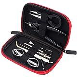 Ewolee Werkzeugkoffer Werkzeugtasche, DIY 9-teilig -Werkzeug-Set, Schraubendreher Zangen-Satz, ideal für den Haushalt
