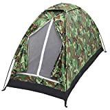 Camping Zelt Kompaktes Kuppelzelt Tragbares Tarnzelt Winddicht und wasserdicht Leichtgewicht Geeignet für 1 Personen Wanderungen im Freien Camping Backpacking Survival Travel