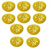 LiBao-TaoYao Wespenfalle, wiederverwendbar, zum Aufhängen, gelbe Trichter, Fliegenfänger, Käferfänger, DIY-Werkzeuge für drinnen und draußen, 10 Stück