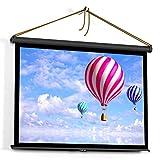 ZFFSC Beamer 50-Zoll-Projektor-Bildschirm 4: 3 Tabletop-Projektions-Bildschirm-Handbuch Pull Up Folding Projekting-Bildschirm Heimkino für dl Beamer