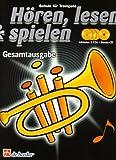 Hören, lesen & spielen, Schule für Trompete, Gesamtausgabe, m. 4 Audio-CDs