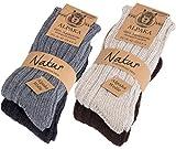 Brubaker 4 Paar Alpaka Socken Multipack 100% Alpaka 35-38