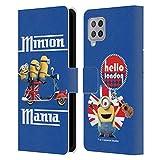Head Case Designs Offiziell Zugelassen Minions Union Jack Scooter Minion Britischer Einmarsch Leder Brieftaschen Handyhülle Hülle Huelle kompatibel mit Samsung Galaxy A42 5G (2020)