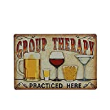 OULII Group therapy Vintage Metall Zeichen Wandposter