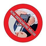 Mini Aufkleber: Nur Barzahlung, Keine Kartenzahlung Kreditkarten möglich - 4,0 cm
