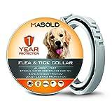 Grotao Flohhalsband für Hunde, 12 Monate für vollen Schutz, 63,5 cm langes Floh- und Zeckenhalsband, natürliche Inhaltsstoffe und sichere Behandlung für Hunde