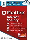 McAfee Internet Security 2021 | 3 Geräte |1 Jahr | Antivirus Software, Virenschutz-Programm, Passwort Manager, Mobile Security| PC/Mac/Android/iOS |Europäische Ausgabe| Aktivierungscode per E