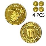 NLR Zahnfee Münzen [4 Stück] Zahnfee Münzen Erfahrung für die verlorenen Zahn Kinder