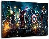 Marvel Helden Format 60x40 cm Bild auf Leinwand, XXL riesige Bilder fertig gerahmt mit Keilrahmen, Kunstdruck auf Wandbild mit Rahmen