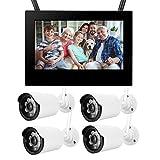 LXYPLM Überwachungskamera HD Kamera Drahtlose Kamera 10in 1,3 Mp Hd Drahtlos WiFi Baby Monitor 4 Kameras Smart Dvr Home Security System Baby Monitor