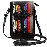 Karate Gürtel Farben Silhouette Kleine Crossbody Handy Geldbörse Tasche Handy Geldbörse mit abnehmbarem Gurt