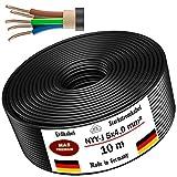 Erdkabel Stromkabel 5, 10, 15, 20, 25, 30, 35, 40 oder 50 m NYY-J 5x4mm² Elektrokabel Ring zur Verlegung im Freien, Erdreich (10m)