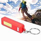 Wosune Taschenlampen-Schlüsselanhänger, tragbarer Mini-Schlüsselanhänger mit Taschenlampen-ABS-Material für Verschiedene Situationen(red)