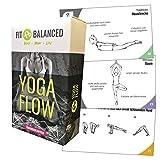 Fit&Balanced Yoga Karten, für Anfänger und Fortgeschrittene, mit 60 Yogaübungen, mit Online-Einführungs-Kurs, mit Meditationen und Atemübungen zum Anhören, Yoga Box