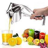 Zitronenpresse, Retro-Handheld-Aluminium-Frucht-Entsafter, manuelle Saftpresse, einfacher Griff für Küche und Obst