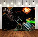 SDDSER MSDLS365 Raumschiff-Hintergrund Cockpit Hintergrund für Star War Party, Hintergrund Fotografie, 17,8 x 152,4 m