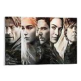 LAJIREN Game of Thrones Staffel 8 Episode Leinwand-Kunstposter und Wandkunstdruck, modernes Familienschlafzimmerdekoration, 60 x 90 cm