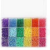 Kurtzy Pony Perlen 6mm in Regenbogenfarben mit Sortierkasten (2300 Perlen) Bastelperlen zum Auffädeln in Verschiedenen Farben Perlen Set für Schmuck, Armbänder, Ketten, Schlüsselanhänger, Basteln