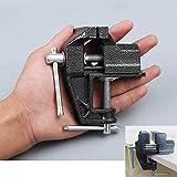 Hengda Mini-Tischklemme, klein, 6,1 cm, aus Gusseisen, für Juweliere, Hobby, Handwerk, Reparaturwerkzeug, tragbarer Schraubstock