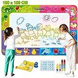 Fivejoy Magic Doodle Matte,Wasser Zeichnung Doodle Matte 150 x 100 cm, Drawing Matte, Gekritzel Matte für 4 - 6 Kinder - Vielfältiges Zubehör, Kinder Lernspielzeug für W