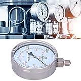 Manometer, robuster klarer Druckmesser für die Maschinenindustrie