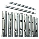 Rohrsteckschlüssel 10 tlg. Satz Rohrschlüssel Steckschlüssel Drehstifte