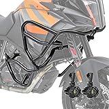 Set Sturzbügel + Scheinwerfer XL für KTM 1050 Adventure 15-16 schw
