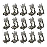 50 Stück 3D-Drucker Hotbed Glas Plattform Sicherungs Clips Halter Fotografie Bilderrahmen Metall Federdrehklemmen Silber Ton