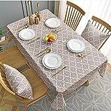 MissW Geometrische Kleine Frische Tischdecke Im Europäischen Stil, Wasserdicht Und Gegen Verbrühung, Rechteckige Multifunktionale Couchtisch-Tischdecke